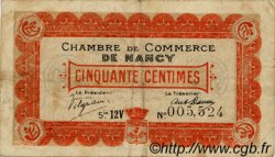 50 Centimes FRANCE régionalisme et divers Nancy 1918 JP.087.28 TB