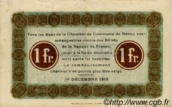 1 Franc FRANCE régionalisme et divers NANCY 1918 JP.087.29 TTB à SUP
