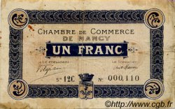 1 Franc FRANCE régionalisme et divers Nancy 1918 JP.087.29 TB