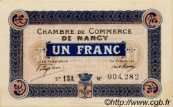 1 Franc FRANCE régionalisme et divers NANCY 1918 JP.087.30 TTB à SUP