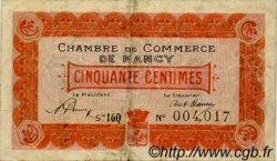 50 Centimes  FRANCE régionalisme et divers Nancy 1919 JP.087.31 TB