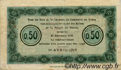 50 Centimes FRANCE régionalisme et divers Nancy 1919 JP.087.31 TB