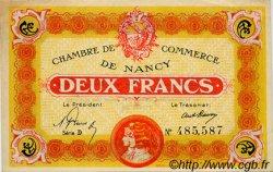 2 Francs FRANCE régionalisme et divers Nancy 1919 JP.087.32 TTB à SUP