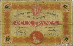 2 Francs FRANCE régionalisme et divers Nancy 1919 JP.087.32 TB