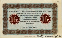 2 Francs FRANCE régionalisme et divers NANCY 1919 JP.087.34 TTB à SUP