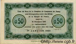 50 Centimes FRANCE régionalisme et divers Nancy 1920 JP.087.37 TTB à SUP
