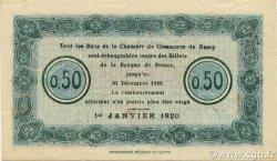 50 Centimes FRANCE régionalisme et divers NANCY 1920 JP.087.38 SPL à NEUF