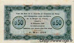 50 Centimes FRANCE régionalisme et divers NANCY 1920 JP.087.40 TTB à SUP