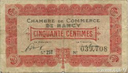 50 Centimes FRANCE régionalisme et divers Nancy 1921 JP.087.43 TB