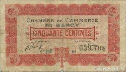 50 Centimes FRANCE régionalisme et divers Nancy 1921 JP.087.43 TB