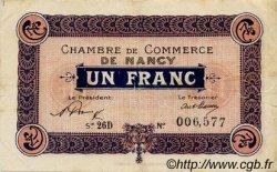 1 Franc FRANCE régionalisme et divers NANCY 1921 JP.087.45 TTB à SUP