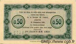 50 Centimes FRANCE régionalisme et divers Nancy 1921 JP.087.46 SPL à NEUF