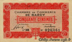 50 Centimes FRANCE régionalisme et divers NANCY 1921 JP.087.46 TTB à SUP