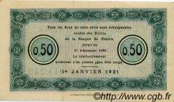50 Centimes FRANCE régionalisme et divers Nancy 1921 JP.087.47 TTB à SUP