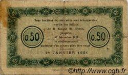 50 Centimes FRANCE régionalisme et divers Nancy 1921 JP.087.48 TB