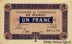 1 Franc FRANCE régionalisme et divers NANCY 1921 JP.087.51 SPL à NEUF