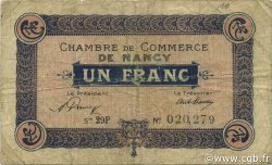 1 Franc FRANCE régionalisme et divers Nancy 1921 JP.087.51 TB
