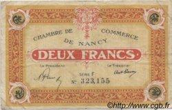 2 Francs FRANCE régionalisme et divers Nancy 1921 JP.087.52 TB