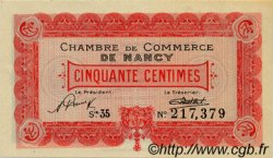 50 Centimes FRANCE régionalisme et divers Nancy 1922 JP.087.53 TTB à SUP