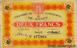 2 Francs FRANCE régionalisme et divers NANCY 1922 JP.087.55 TB