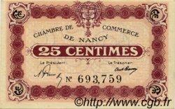25 Centimes FRANCE régionalisme et divers Nancy 1918 JP.087.57 SPL à NEUF