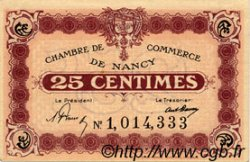 25 Centimes FRANCE régionalisme et divers NANCY 1918 JP.087.57 TTB à SUP