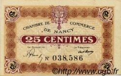 25 Centimes FRANCE régionalisme et divers Nancy 1919 JP.087.61 SPL à NEUF