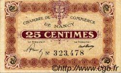 25 Centimes FRANCE régionalisme et divers Nancy 1918 JP.087.61 TTB à SUP