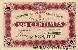 25 Centimes FRANCE régionalisme et divers Nancy 1918 JP.087.62 SPL à NEUF
