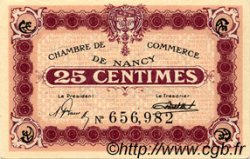 25 Centimes FRANCE régionalisme et divers NANCY 1918 JP.087.62 TTB à SUP