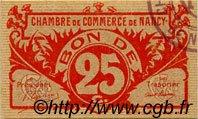 25 Centimes FRANCE régionalisme et divers NANCY 1918 JP.087.64 SPL à NEUF