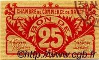 25 Centimes FRANCE régionalisme et divers NANCY 1918 JP.087.67 SPL à NEUF