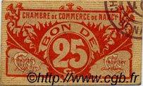 25 Centimes FRANCE régionalisme et divers NANCY 1918 JP.087.67 TTB à SUP