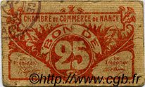 25 Centimes FRANCE régionalisme et divers NANCY 1918 JP.087.67 TB