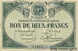 2 Francs FRANCE régionalisme et divers Nantes 1918 JP.088.02 TTB à SUP