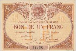 1 Franc FRANCE régionalisme et divers NANTES 1918 JP.088.09 TTB à SUP