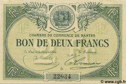 2 Francs FRANCE régionalisme et divers NANTES 1918 JP.088.12 TTB à SUP