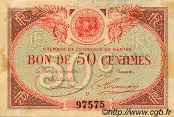 50 Centimes FRANCE régionalisme et divers Nantes 1918 JP.088.13 TTB à SUP