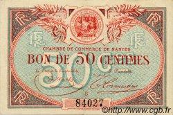 50 Centimes FRANCE régionalisme et divers NANTES 1918 JP.088.16 TTB à SUP