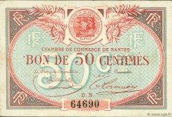 50 Centimes FRANCE régionalisme et divers NANTES 1918 JP.088.18 TB