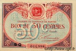 50 Centimes FRANCE régionalisme et divers NANTES 1918 JP.088.22 TTB à SUP