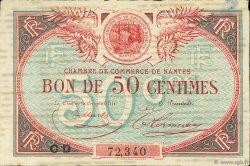 50 Centimes FRANCE régionalisme et divers NANTES 1918 JP.088.25 TTB à SUP