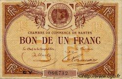 1 Franc FRANCE régionalisme et divers NANTES 1918 JP.088.26 TB
