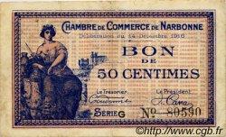 50 Centimes FRANCE régionalisme et divers Narbonne 1916 JP.089.09 TTB à SUP