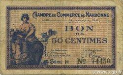 50 Centimes FRANCE régionalisme et divers NARBONNE 1916 JP.089.09 TB
