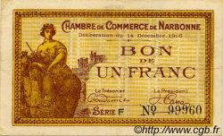 1 Franc FRANCE régionalisme et divers NARBONNE 1916 JP.089.11 SPL à NEUF