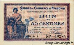 50 Centimes FRANCE régionalisme et divers Narbonne 1917 JP.089.12 SPL à NEUF
