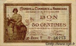 50 Centimes FRANCE régionalisme et divers NARBONNE 1919 JP.089.17 TTB à SUP