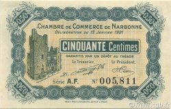 50 Centimes FRANCE régionalisme et divers NARBONNE 1921 JP.089.19 SPL à NEUF