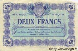 2 Francs FRANCE régionalisme et divers Narbonne 1921 JP.089.25 TB